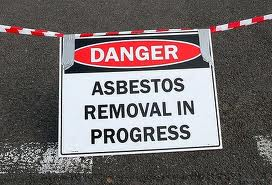 Danger sign asbestos canberratimes