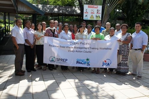 Participants and resorce officer for the Clean Pacific Camapaign Workshop Nadi Fiji 330