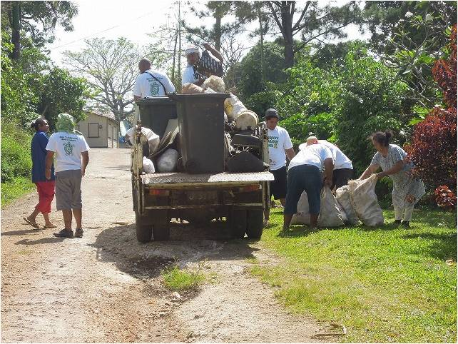 Community garbage collection system Vavau Tonga