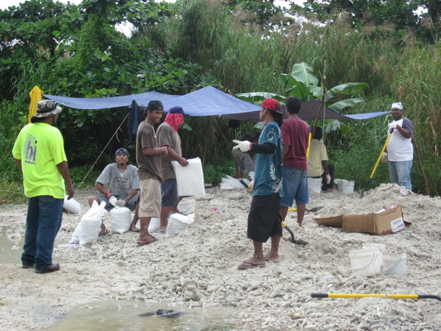"Demonstration of road improvement using ""Do-nou"" technology near the dumpsite in Chuuk"