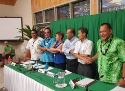 27SM Niue News:  Signing of the regional cooperative framework for J-PRISM II