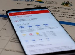 Samoa promotes smartphone app for weather warnings to regional meeting