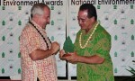 Samoa honours David Sheppard with a Special Environment Award