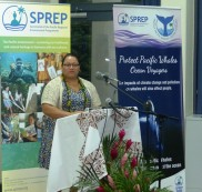 Launch of the 'Protect Pacific Whales - Ocean Voyages' campaign. Dr. Josie Tamate, Director General, Ministry of Natural Resources of Niue
