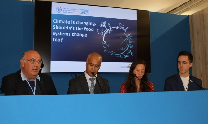 FAO side event 'Climate is changing - shouldn't our food systems change too?' panel