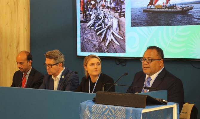 Friends of the Ocean side event panel