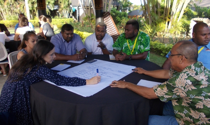 Mitigation hierarchy group breakout discussion, Nadi, Fiji