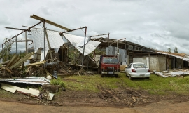 The aftermath of Cyclone Evan ©Stuart Chape