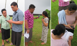 Building capacity to map protected and conserved areas in Samoa