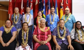 Members of SPREP's Executive Board with Deputy Prime Minister of Samoa, Hon. Fiame Naomi Mata'afa