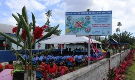 Lefaga College of Lefaga Village in Samoa helping to stop the spread of invasive species