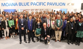 Group photo of guests at Pavilion official opening