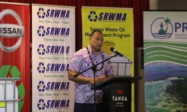 SPREP Director General, Kosi Latu.
