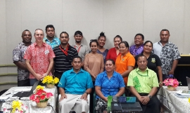 Group photo at the Tuvalu EIA training workshop