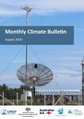 Monthly climate bulletin August 2020