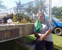 MNRE staff leading the Samoa Clean-Up organised in partnership with the Greening of the Games Initiative