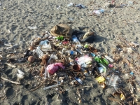 Waste on beach in Honiara