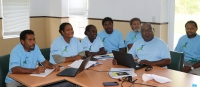 Solomon Islands government representatives at the Inform SoE & NEMS consultations