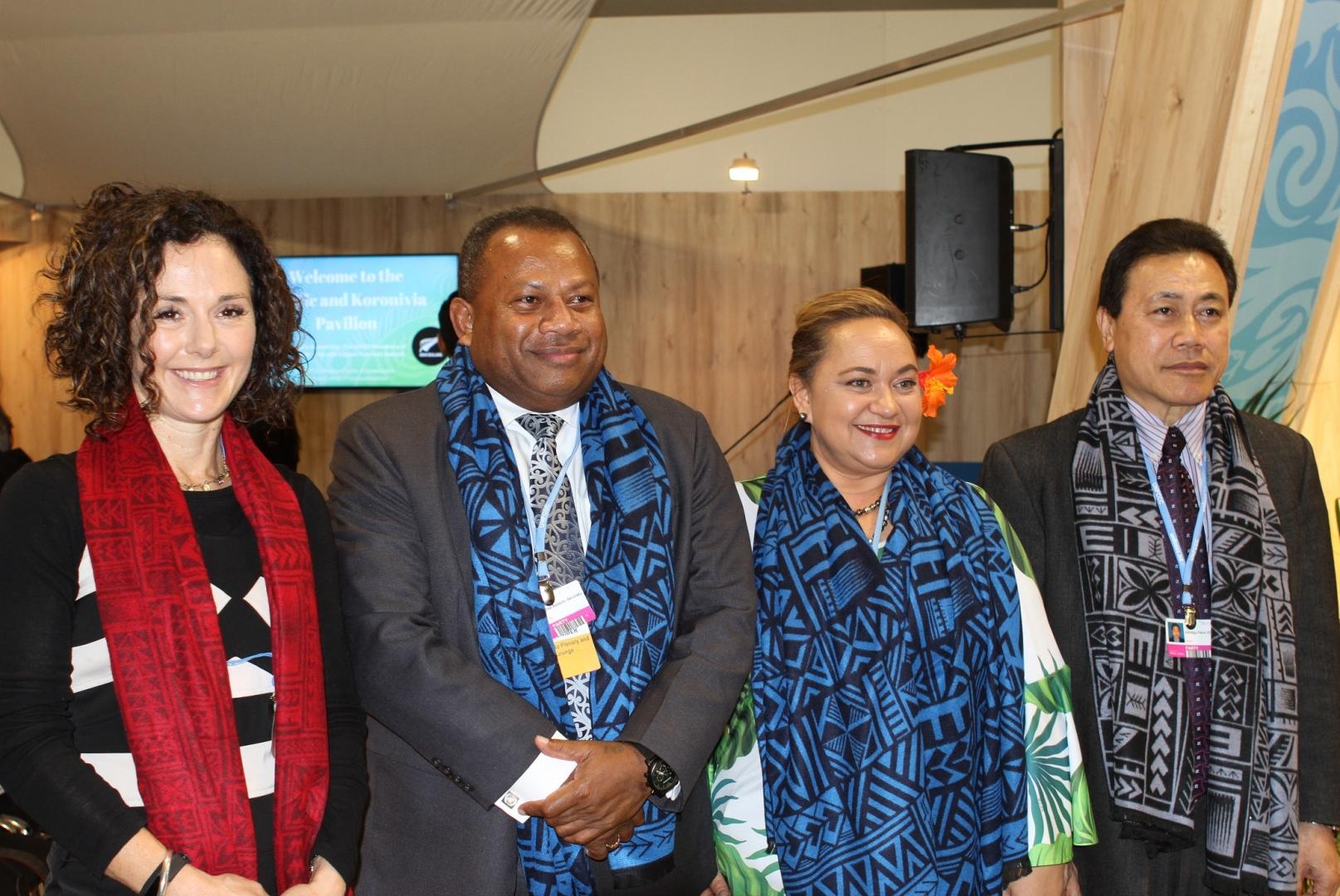Ms Anna Broadhurst, Hon. Inia Seruiratu, Ms Tagaloa Cooper-Halo and Ambassador Feturi Elisaia